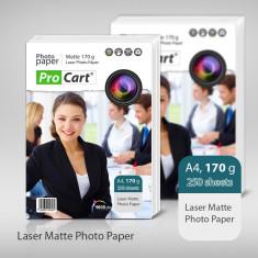 Carton laser cu suprafata mata 170g