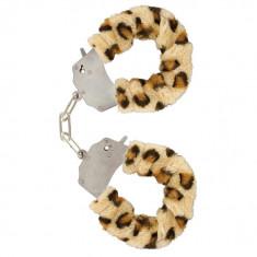 Catuse Metal cu Plus Leopard, Toy Joy