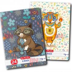 Caiet A5, 24 file, 80g/mp, Tip II, Cute Animals Premium Herlitz
