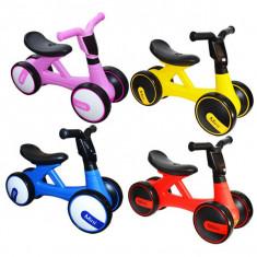 Bicicleta fara pedale, 4 roti, cu muzica, lumini