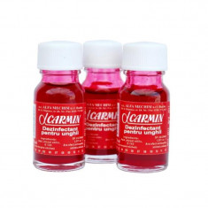 Set 3 sticlute carmin, 10 ml