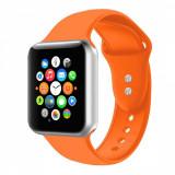 Curea silicon Edman compatibila Apple Watch 3, 42mm, portocaliu
