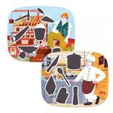 Puzzle magnetic educativ Montessori Quercetti, 15 piese, 3-6 ani