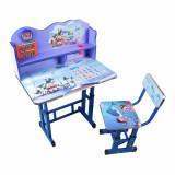 Set 2, Birou si scaun pentru copii, pal+metal, Albastru