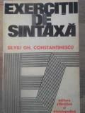 EXERCITII DE SINTAXA-SILVIU GH. CONSTANTINESCU