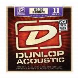 Corzi chitara acustica Dunlop 80/20 Brass Medium Light 11-52