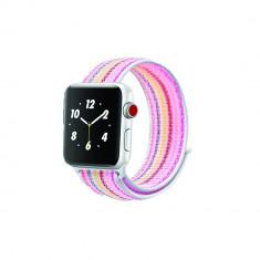 Curea compatibila Apple Watch, 42/44mm, nylon, multicolor