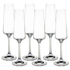 Set pahare sampanie cristal Bohemia, 6x160 ml, Transparent