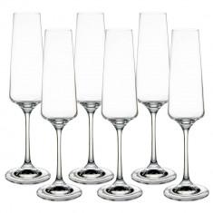 Set pahare sampanie cristal Bohemia, 6x160 ml, Transparent