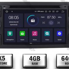 Navigatie Ford Focus Fiesta C Max S Max Kuga Transit Android 9 Octacore PX5 4GB RAM + 64GB ROM cu DVD 7 Inch AD BGWFORDD7P5 B