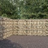VidaXL Perete gabion cu capace, 900 x 50 x 200 cm, oțel galvanizat