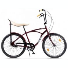 Bicicleta Pegas Strada 1 OTEL 3S 2017, Cadru 17inch, Roti 26inch, 3 Viteze (Visiniu)
