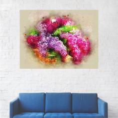 Tablou Canvas, Pictura Flori Liliac - 20 x 25 cm