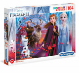 Cumpara ieftin Puzzle Super Color Frozen 2, 104 piese