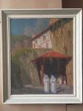 Tablou Ulei semnat Paul Scortescu lucrat in cutit, Peisaje, Impresionism