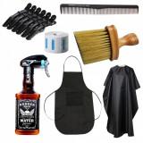 Set kit stensile accesorii frizerie coafor pulverizator whisky manta sort PAUL