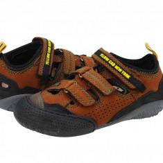 Pantofi sport copii Yellow Cab brown Y3037862, 24 - 30, Piele intoarsa