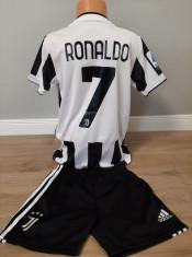 Echipament fotbal pentru copii Juventus Ronaldo marimea 176 foto