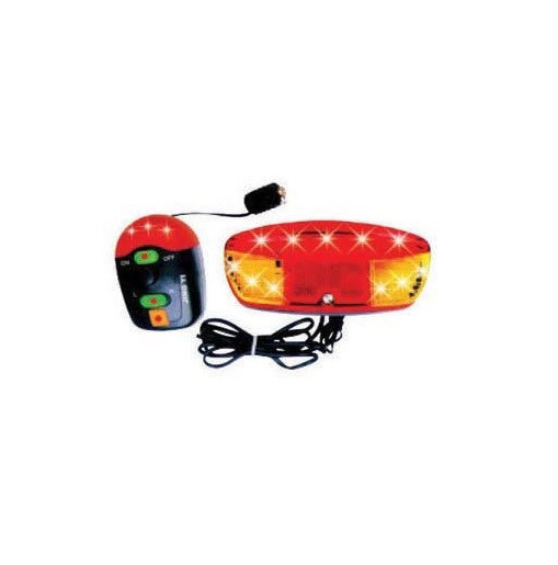 Semnalizare pentru bicicleta, 11 LED-uri, 8 melodii, rosu/portocaliu