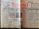Ziarul Timpul,4 pag,18 nov 1945,fondat Grigore Gafencu, noile bancnote Romania