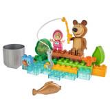 Cumpara ieftin Set constructie Big Masha and the Bear Go Fishing 29 piese