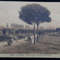 Roma-Via Appia-Avanzi degli acuedotti di Claudio - CP Ilustrata