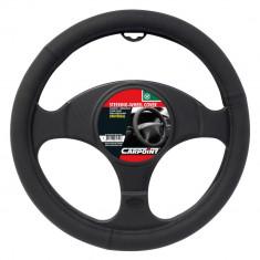 Husa volan Carpoint , material cauciucat, culoare negru mat , diametru 37-39cm Kft Auto