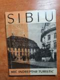 mic indreptar turistic - sibiu din anul 1962 - contine harta