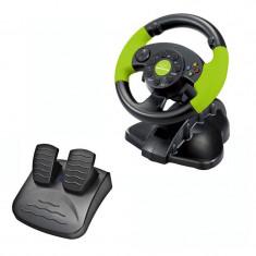 Volan gaming cu pedale, Xbox 360/PC/PS3, 13 butoane, vibratii, Esperanza foto