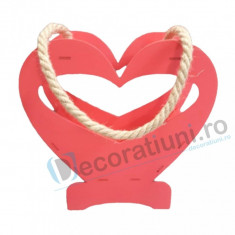 Cutie decorativa din lemn - model Heart