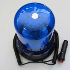 Girofar cu magnet 51066 cu 120 LED Albastru 12V ManiaCars