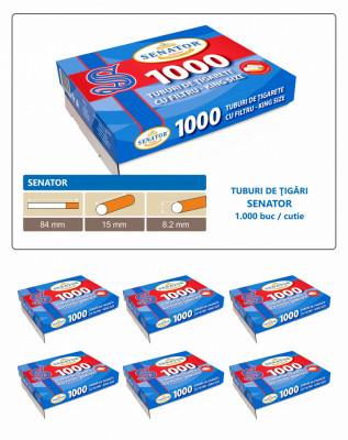 OFERTA - 6.000 tuburi tigari cu filtru pentru injectat tutun SENATOR, 6 x 1000 foto