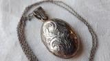 MEDALION argint LOCAS FOTOGRAFII art nouveau FRANTA 1900 SPLENDID pe Lant argint