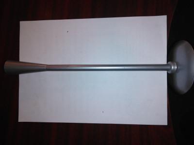 CY - Sfesnic metal neferos bronz argintiu deosebit / h = 33 cm; d baza = 10 cm foto
