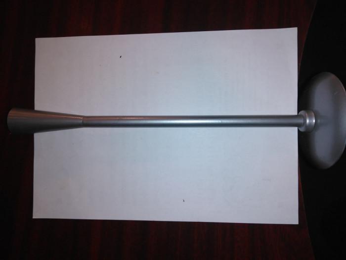 CY - Sfesnic metal neferos bronz argintiu deosebit / h = 33 cm; d baza = 10 cm