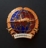 Insigna Aviatie - Pilot - Pt. 9000000 km efectuati
