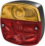 semnalizator universal cu lumini frana (culoare sticla: portocaliu rosu)