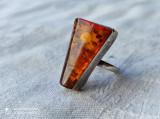 INEL argint cu CHIHLIMBAR AMBRA rar OPULENT de efect SPLENDID elegant SUPERB