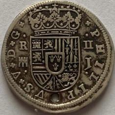 SPANIA-SEGOVIA 2 REALES/REALI 1717,PHILIP V.,,AG.903,,KM#297