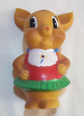 Jucarie veche perioada comunista de colectie figurina din cauciuc anii 1970 foto