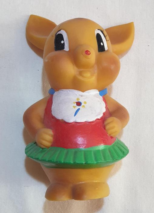 Jucarie veche perioada comunista de colectie figurina din cauciuc anii 1970