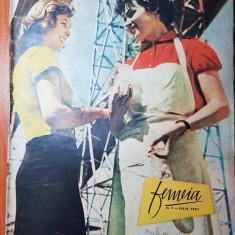 Femeia iulie 1961-articol orasul bucuresti si articol si foto valea oltului