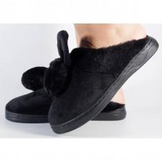 Papuci de casa negri (cod 418005)