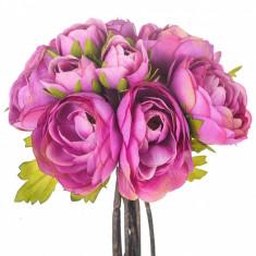 Buchet flori artificiale Ranunculus Mauve