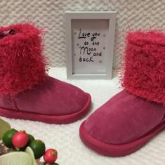 Cizme roz imblanite de iarna comode fete copii fetite piele eco 29, Din imagine