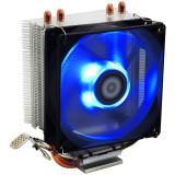 Cumpara ieftin Cooler CPU ID-Cooling SE-902X Blue LED, Ventilator 92mm, Heatpipe-uri Cupru