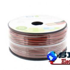 Cablu difuzor rosu/negru cupru 2X0.35mmp, 100m, Well