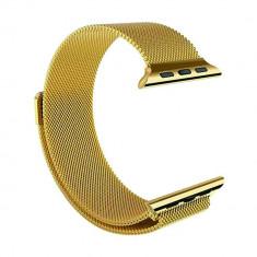 Curea metalica gold pentru Apple Watch 38mm Series 1 / 2 / 3 / 4 versiunea 40mm CellPro Secure