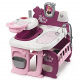 Cumpara ieftin Centru de ingrijire pentru Papusi Baby Nurse Doll s Play Center Mov cu 23 Accesorii, Smoby