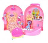 Casuta de papusi cu accesorii transformabila Handbag Play House